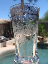 New listing Vtg Silver Rim Lot of 7 Glasses Footed Goblets & Coolers Engraved Floral Design