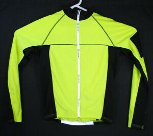 CANARI Long Sleeve Cycling Jacket Women's Medium M Bright Yellow Black Bicycle