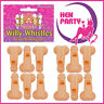 12 Whistle Willy Willies Blowing Hen Do Adult Fun Novelty Stag Night Party Bride