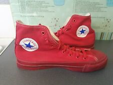 RED MONO CHUCK TAYLOR CONVERSE ALL STAR MADE IN AMERICA HI TOPS SIZE 7