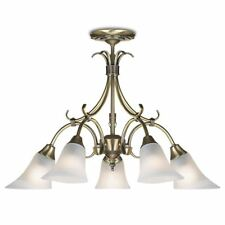Endon Lighting Hardwick 5lt Ceiling Pendant 40W Antique Brass - 144-5AN
