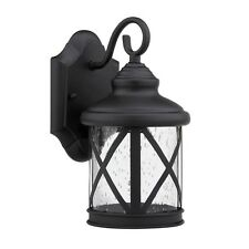 Wall Mounted Exterior Outdoor Black Light Fixture House Patio Porch Single Lamp