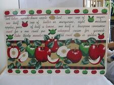 "Apple Placemats ""How to Make Tart Upside Down Apple Tart"" ~ Gift Idea"