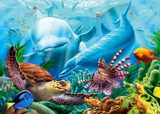 500 Pcs Puzzle Colorful Sea Turtle Dolphins Jigsaw Adult Kid Educational Toys