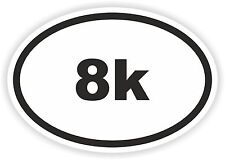 Marathon Oval Sticker 8k Runner Mile Km Run Bike Helmet Bicycle Car Truck Boat