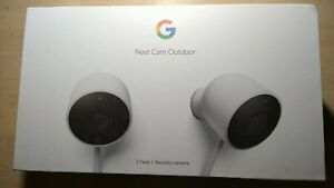 Google NC2400ES Nest Cam Brand New unopened Outdoor Security Camera - 2 Pack