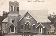 A49/ Brewer Maine Me RPPC Real Photo Postcard 1909 Baptist Convention Church