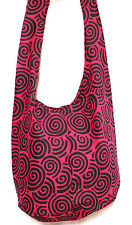 SAC BANDOULIERE ETHNIQUE A MAIN COTON BABA COOL BESACE SHOULDER BAG ETHNIC ROSE