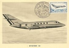 CARTE POSTALE MAXIMUM AVIATION LE MYSTERE 20 SALON AERONAUTIQUE DU BOURGET 1965