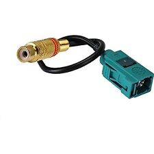 "RF Adapter Cable Fakra Female Female ""Z"" to RCA Female Pigtail Cable for Car DV"