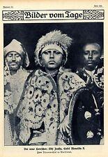 Lidj Jeassu Der neue König in Abessinien Historische Aufnahme von 1910