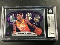 DONOVAN MITCHELL 2017 CROWN ROYALE 167 CRYSTAL PURPLE /25 ROOKIE BGS 9.5 9 9 9.5