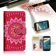 Hot Pink AZTEC TRIBAL Wallet Case Cover For Google Pixel 2 XL-- A004