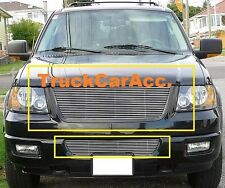 For FORD Expedition 2003 2004 2005 2006 2PC Polished Grille Combo OVERLAYS usa