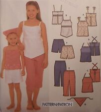 S-9652 Top Pants Shorts Scarf Sewing Pattern Simplicity Child Size 7-8-10-12-14