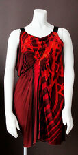 NWOT Jean Paul GAULTIER Red Gladiator Stretch Draped Dress (I - 42/USA -8)
