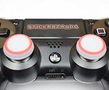 2 x claramente rojo joystick thumbstick kappenl brilla ps4 Xbox Controller