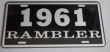 METAL LICENSE PLATE 1961 61 RAMBLER NASH AMC AMERICAN MOTORS 660 440
