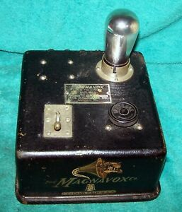 1920's MAGNAVOX Type A1 .. One Tube Audio Frequency Amplifier  .. Working w/Tube
