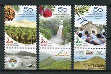 Israel 2017 MNH Settling Jordan Valley Golan Judea & Samar 3v Set Stamps