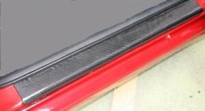 CARBON FIBRE Effect Boot Rear Bumper Sill Protector (BSP2) fits CITROEN / DS