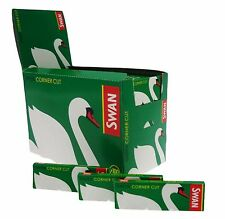 1 3 5 10 20 50  SWAN GREEN STANDARD GENUINE SMOKING CIGARETTE ROLLING PAPERS