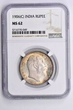 1906(C) India 1 Rupee NGC MS 62 Witter Coin