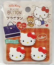 Sanrio Hello Kitty Plastic Button Decorate Your Things   , hok