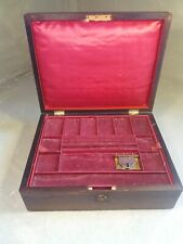 Antique Fitted Jewellery Box