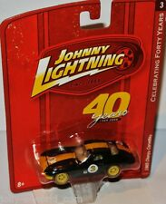 Forty Years R3 - 1965 CHEVY CORVETTE - black/Yellow - 1:64 Johnny Lightning