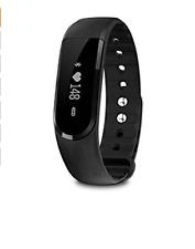 New Activity Tracker - Heart Rate -Waterproof- Pedometer-Sleep Tracker (Black)
