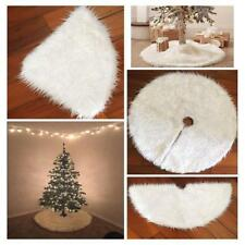 Long Snow Plush Christmas Tree Skirt Base Floor Mat Cover XMAS Party Decor JO