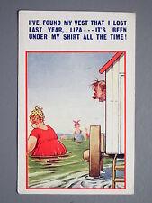 R&L Postcard: Comic, Bamforth 1861, Bathing Hut, Chubby Woman