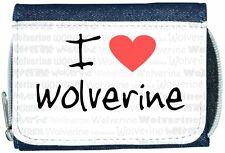 I Love Heart Wolverine Denim Wallet
