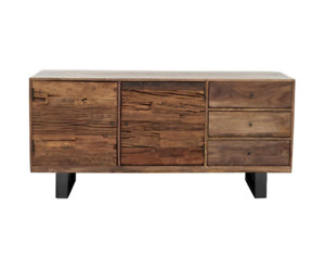 Industrial Style Sideboard In Solid Reclaimed Wood Stainless Steal Legs RP:£1199