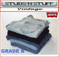 VINTAGE LEVIS DENIM B GRADE STRETCH JEANS  505, 514, 517, 527, 550 , 559, 560,