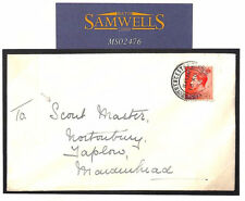 MS2476 1937 GB SCOUT MASTER Wallis Correspondence *Cirencester*Glos KEVIII Cover