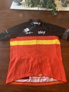 RARE Rapha Team Sky Spain Country Jersey, Men's XXL New With Tags