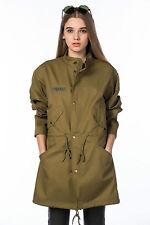 Zara Zip Patternless Outdoor Coats & Jackets for Women