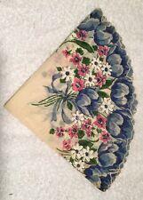 """Antique Floral 13"""" Round Handkerchief"""