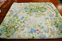 Vintage Pequot Floral and Berries Cotton Blend Percale King Size Flat Sheet