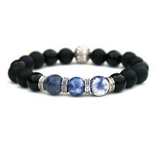 Men's Sodalite and Onyx Diffuser Bracelet Handmade Luxury Bracelet for Men