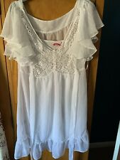 Lipsy Summer Butterfly White Dress Worn Once Size 14 Very Pretty 😍😍😍