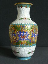 CLOISONNÉ BALUSTER VASE EMAILLE WOHL CHINA