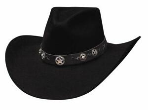 Bullhide Hats 0471Bl Rodeo Round-Up Collection Star Studded 4X Black Cowboy Hat