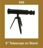 New  6 Inch Telescope on Stand Tripod Nautical Collectible