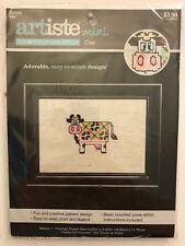 Zweigart Artiste Mini COW Cross Stitch Kit - Kooler Design Studio