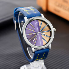 Fashion Women Men Unisex Wristwatch Quartz Watch Analog Watch PU Leather Gift