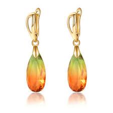 Women Teardrop CZ Drop Earring Party Dating Luxury Jewelry Mothers Day Gift