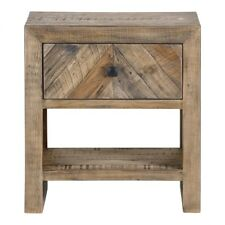 "24"" T Marley Nightstand Hand Crafted Reclaimed Pine Chevron Drawer Front"